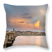 Berwick And Its Old Bridge Throw Pillow