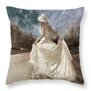 Beside Myself The Moon Throw Pillow