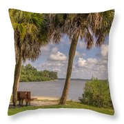 Beside The Shore Throw Pillow