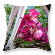 Bespoke Flower Arrangement Throw Pillow by Rona Black