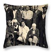 Bessie Coleman Aero Club Throw Pillow
