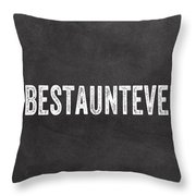 Best Aunt- Greeting Card Throw Pillow