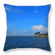 Best Complete Rainbow Over Santa Rosa Sound3 Throw Pillow