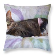 Best Friends  Throw Pillow by Andee Design
