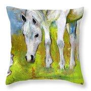 Best Friends Art Throw Pillow