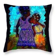 Best Friends Mosaic Throw Pillow