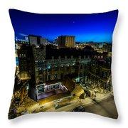 Best Place Blue Hour Throw Pillow