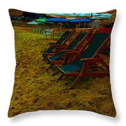 Best Seats In The House...beachside Throw Pillow