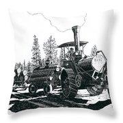 Best Steam Traction Engine Throw Pillow