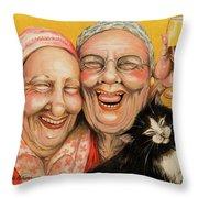 Bestest Friends Throw Pillow