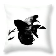 Beta In Black And White Throw Pillow