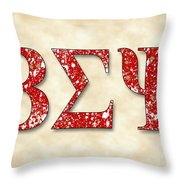Beta Sigma Psi - Parchment Throw Pillow
