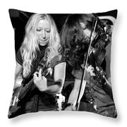 Stellar Musicians Beth Garner Ivalee Pitts Nashville Tennessee Throw Pillow