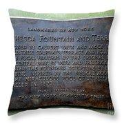 Bethesda Fountain And Terrace Throw Pillow