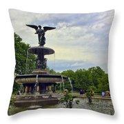 Bethesda Fountain II Throw Pillow