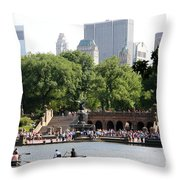Bethesda Terrace And Fountian Nyc Throw Pillow