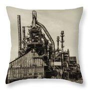 Bethlehem Pa Steel Plant   Throw Pillow