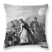 Betsy Doyle A Soldiers Wife Helping Throw Pillow