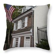 Betsy Ross House Philadelphia Pennsylvania Throw Pillow