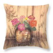 Betsy's Flowers 2 Throw Pillow