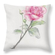 Betsy's Rose Throw Pillow