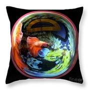 Betta Bowl Throw Pillow by Renee Trenholm