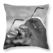 Better To See With Bw Throw Pillow