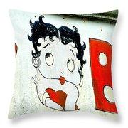 Betty Boop Herself Throw Pillow
