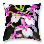 'betty' Orchid Throw Pillow