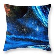 Between Alien Worlds Throw Pillow by Murphy Elliott
