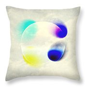 Between Clouds Digital Art Throw Pillow