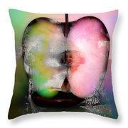 Between My Apples  Throw Pillow