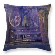 Between The Layers Throw Pillow