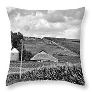 Between The Lines - Bw Throw Pillow