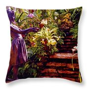 Between The Steps Throw Pillow