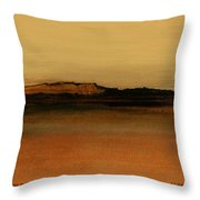 Between The Woods And Frozen Lake   Number Two Throw Pillow