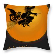 Betwitched Throw Pillow