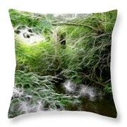 Phallic In The Grass Throw Pillow