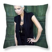 Bewitching Beauty Palm Springs Throw Pillow