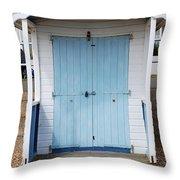 Bexhill Beach Hut Throw Pillow