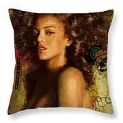 Beyonce Throw Pillow by Corporate Art Task Force