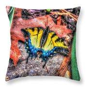 Beyond Chrysalis-tiger Swallowtail Throw Pillow