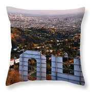 Beyond Hollywood Throw Pillow