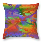 Beyond The Albatross Rainbow Throw Pillow