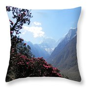 Beyond The Rhododendrons 2 Throw Pillow