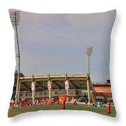Bgsu Doyt Perry Stadium 3285 Throw Pillow