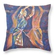 Bharatha Naatayam 3 Throw Pillow