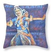 Bharatha Naatyam Throw Pillow