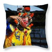 Bian Jiang Dancer Acanthus Throw Pillow