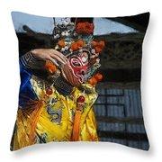 Bian Jiang Dancer Color Drawing Hp Throw Pillow
